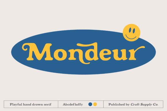 Print on Demand: Mondeur Serif Font By craftsupplyco