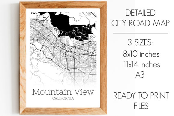 Download Free Mountain View California City Map Graphic By Svgexpress for Cricut Explore, Silhouette and other cutting machines.