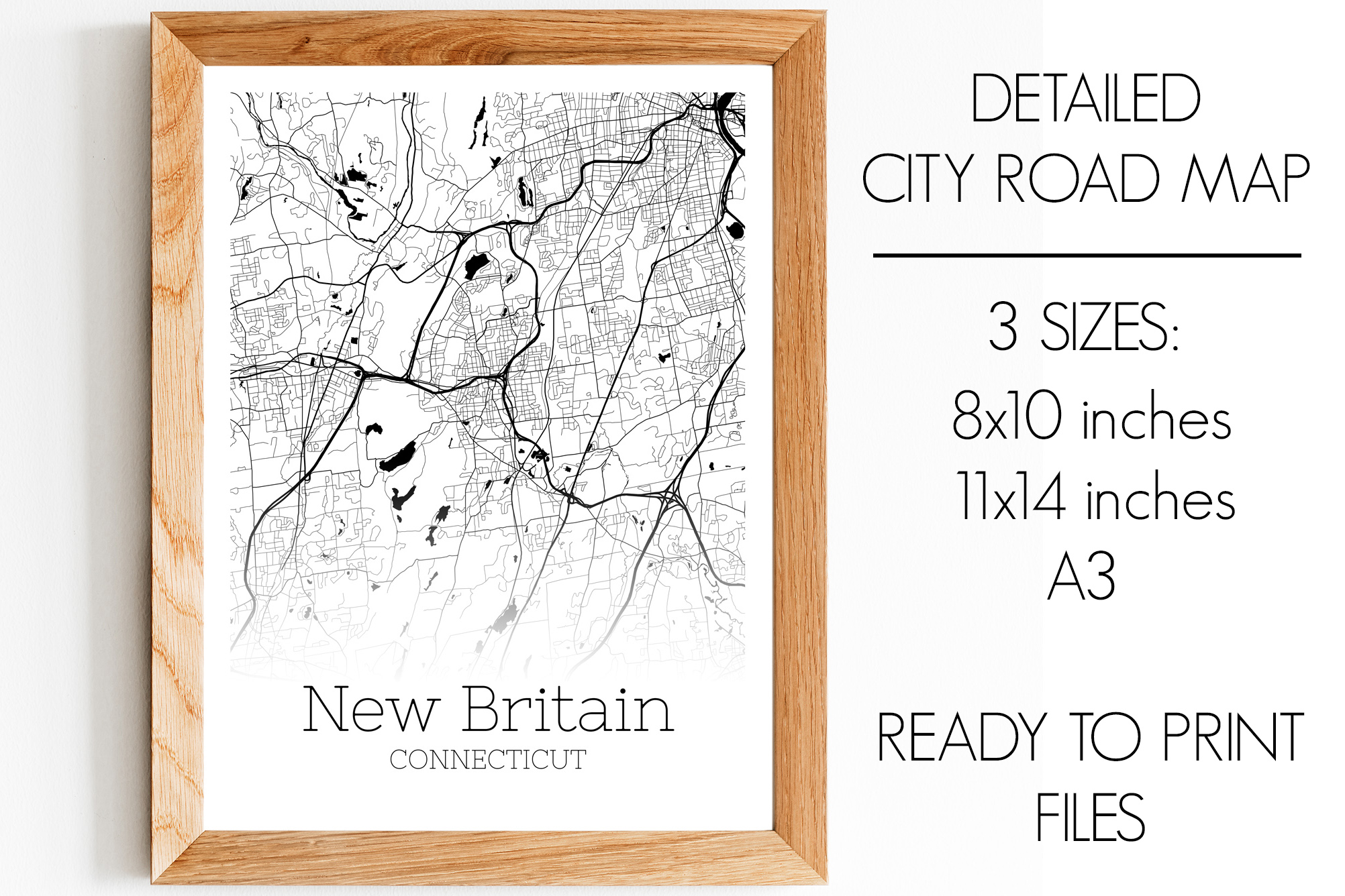 Download Free New Britain Connecticut City Map Graphic By Svgexpress for Cricut Explore, Silhouette and other cutting machines.