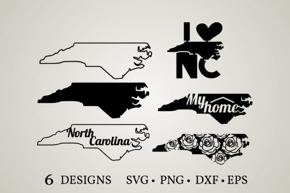 Download Free North Carolina Map Graphic By Euphoria Design Creative Fabrica for Cricut Explore, Silhouette and other cutting machines.