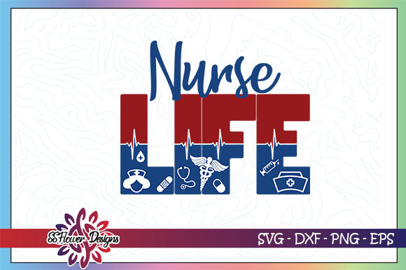Download Free Nurse Life Nurse Heartbeat Graphic By Ssflower Creative Fabrica for Cricut Explore, Silhouette and other cutting machines.