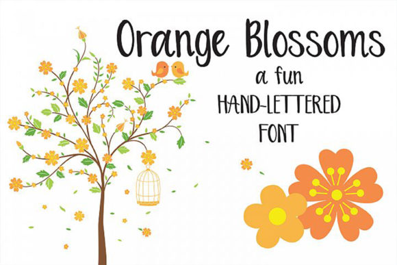 Print on Demand: Orange Blossoms Script & Handwritten Font By Dez Custom Creations