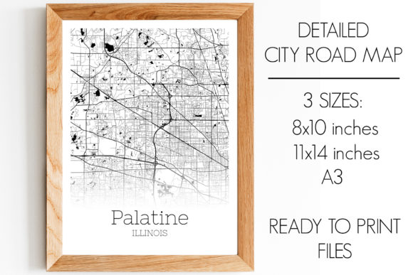 Print on Demand: Palatine Illinois City Map Graphic Photos By SVGExpress