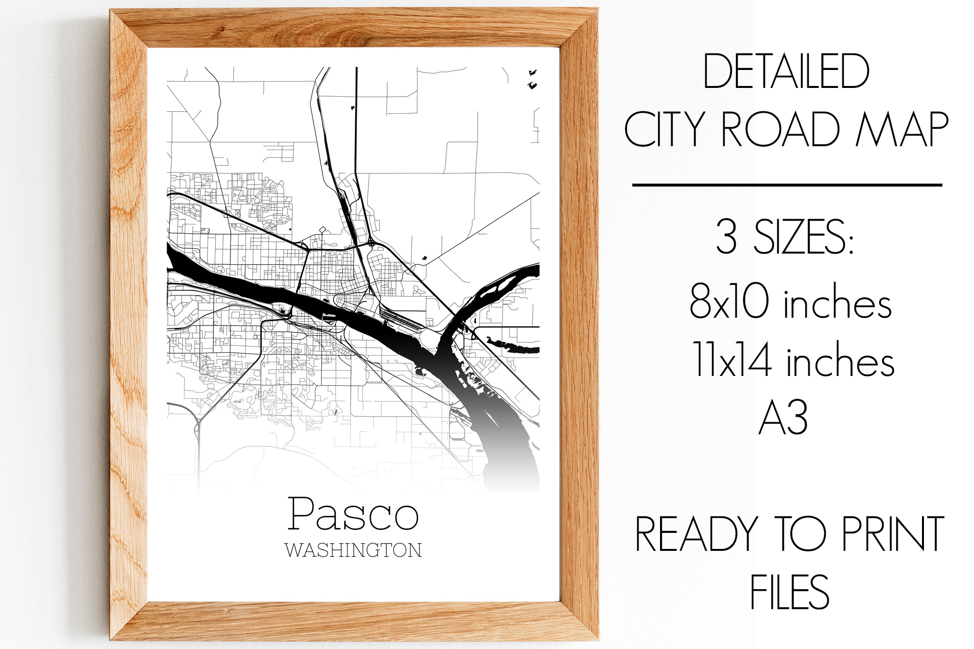 Download Free Pasco Washington City Map Graphic By Svgexpress Creative Fabrica for Cricut Explore, Silhouette and other cutting machines.