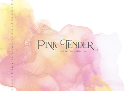 Pink Tender Ink Texture Graphic Textures By BilberryCreate