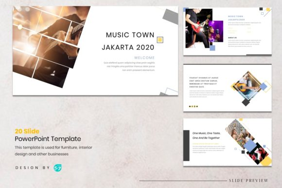 Download Free Presentation Template Music Concert Graphic By Maju57creative for Cricut Explore, Silhouette and other cutting machines.