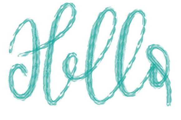 Print on Demand: Procreate Brush - Hello Textured Brush Graphic Brushes By Design 2 Last