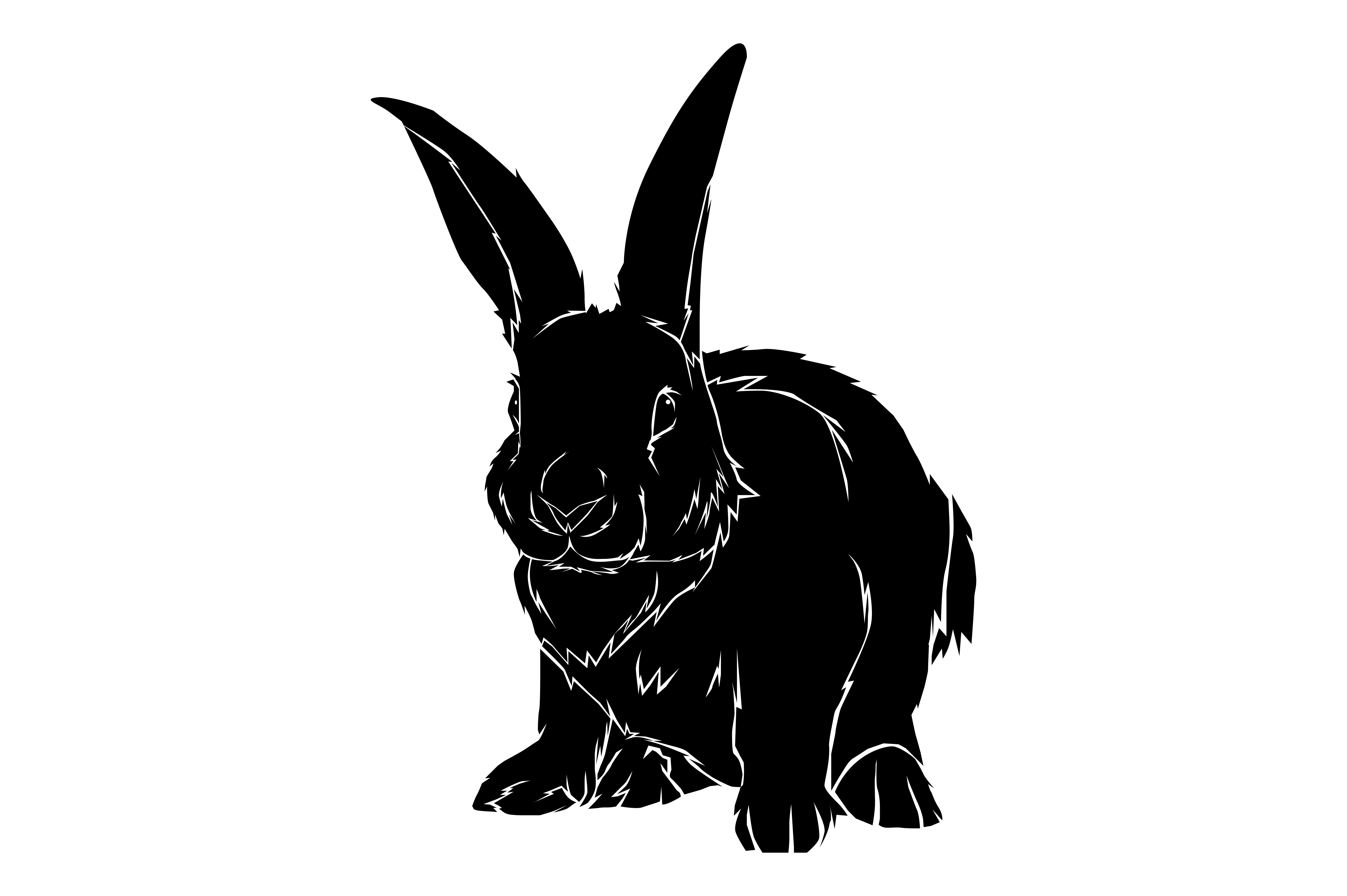 Download Free Rabbit Silhouette Graphic By Rfg Creative Fabrica for Cricut Explore, Silhouette and other cutting machines.