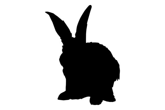 Download Free Rabbit Silhouette Graphic By Rfg Creative Fabrica SVG Cut Files