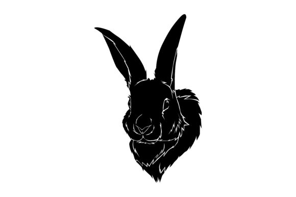 Download Free Rabbit Head Silhouette Graphic By Rfg Creative Fabrica for Cricut Explore, Silhouette and other cutting machines.