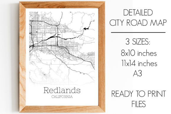 Print on Demand: Redlands California City Map Graphic Photos By SVGExpress
