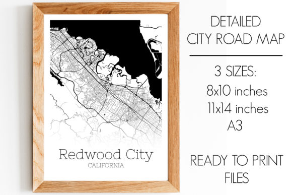Download Free Redwood City California City Map Graphic By Svgexpress for Cricut Explore, Silhouette and other cutting machines.