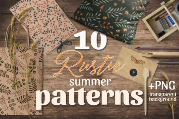 Download Free Rustic Summer Patterns Graphic By Gray Cat Graphics Creative for Cricut Explore, Silhouette and other cutting machines.
