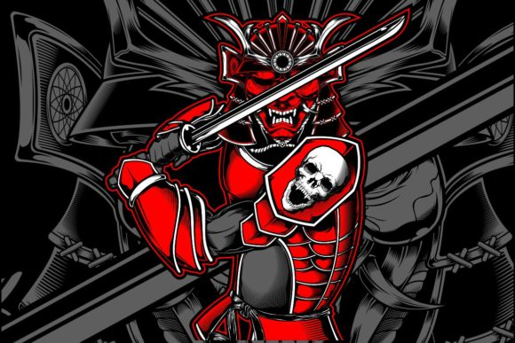 Samurai Skull Japanese Graphic Illustrations By Epic.Graphic
