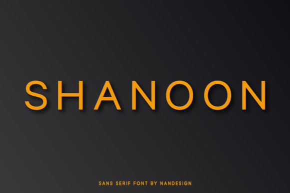 Print on Demand: Shanoon Sans Serif Font By Nan Design