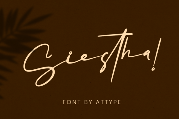Print on Demand: Siestha Script & Handwritten Font By attypestudio