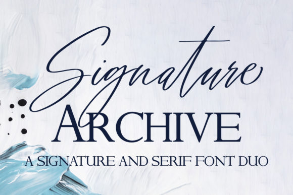 Print on Demand: Signature Archive Script & Handwritten Font By freelingdesignhouse