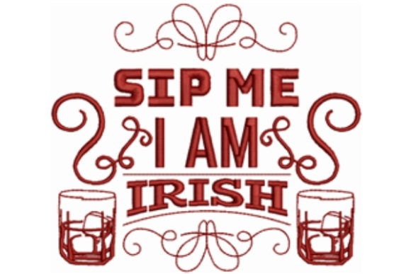 Sip Me Wine & Drinks Embroidery Design By designsbymira