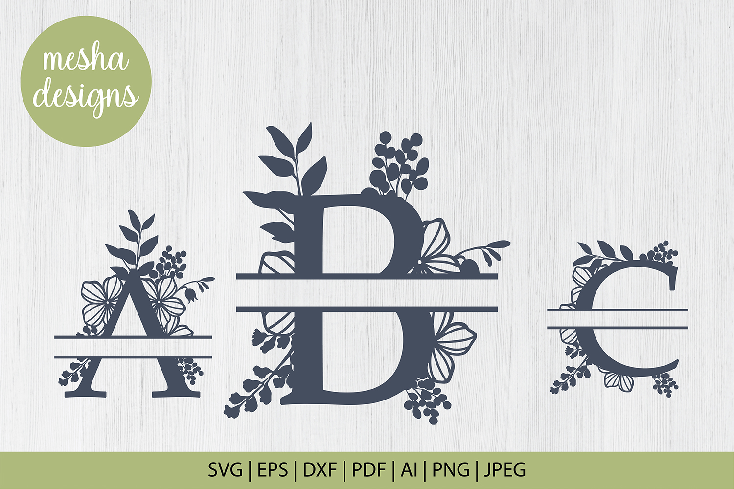 Download Free Split Botanical Letters A To Z Graphic By Diycuttingfiles SVG Cut Files