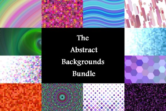 The Abstract Backgrounds Bundle  By davidzydd