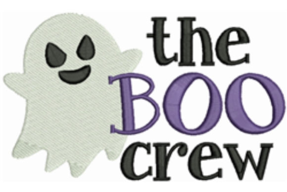 The Boo Crew Halloween Embroidery Design By designsbymira