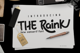 Print on Demand: The Raink Display Font By twinletter
