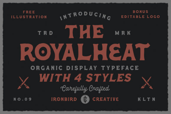 Print on Demand: The Royalheat Display Font By ironbirdcreative