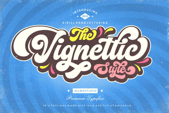 Print on Demand: The Vignettic Manuscrita Fuente Por AllmoStudio