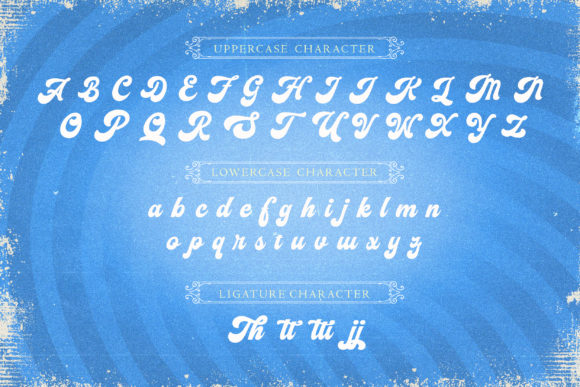 Print on Demand: The Vignettic Script & Handwritten Font By AllmoStudio - Image 7