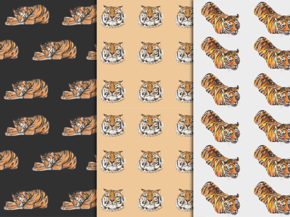 Download Free Tigers Watercolor Clip Art Patterns Graphic By Ralucasuciuart for Cricut Explore, Silhouette and other cutting machines.