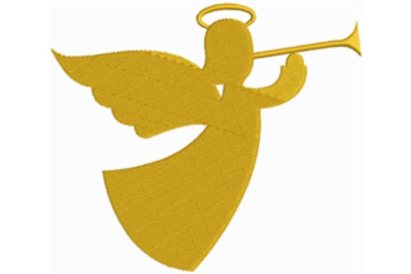 Trumpet Angel Religion & Faith Embroidery Design By designsbymira
