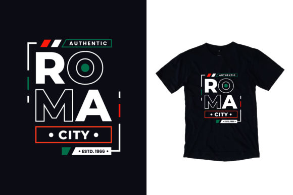 T-shirt Roma City Lettering Graphic Illustrations By yazriltri