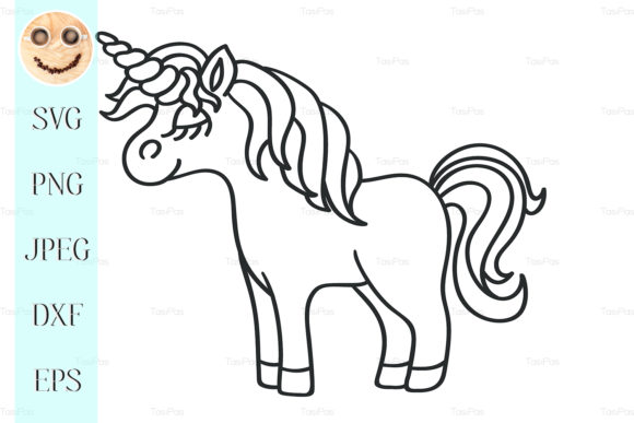 Download Free Unicorn Black Sketch Icon Graphic By Tasipas Creative Fabrica for Cricut Explore, Silhouette and other cutting machines.