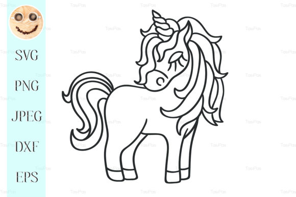 Download Free Unicorn Silhouette Sketch Icon Graphic By Tasipas Creative Fabrica for Cricut Explore, Silhouette and other cutting machines.