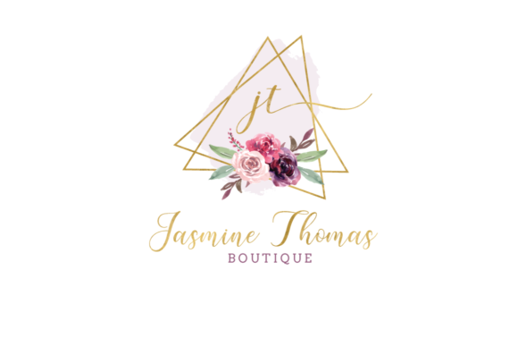 Print on Demand: Watercolor Geometric Logo Templates Graphic Logos By Blueberry Jam Design - Image 3