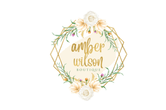 Print on Demand: Watercolor Geometric Logo Templates Graphic Logos By Blueberry Jam Design - Image 9