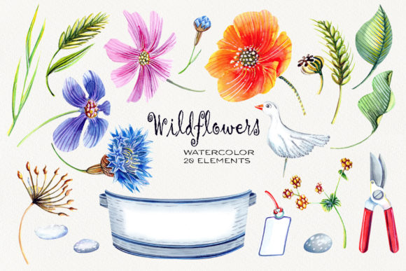 Watercolor Wildflowers Graphic Illustrations By evgenia_art_art - Image 2