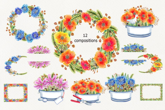 Watercolor Wildflowers Graphic Illustrations By evgenia_art_art - Image 3