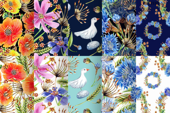 Watercolor Wildflowers Graphic Illustrations By evgenia_art_art - Image 5