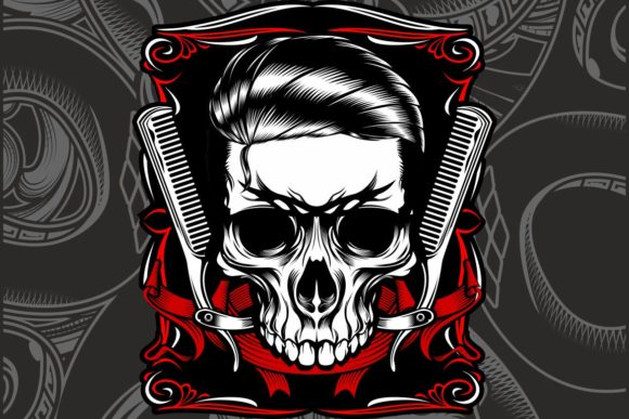 Grunge Style Vintage Skull Bulldog Graphic By Epic Graphic