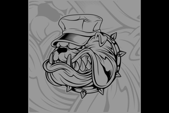Bulldog Wearing Hat Graphic Illustrations By Epic.Graphic