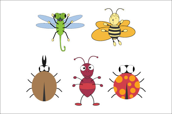 Download Free Cute Insect Graphic By Curutdesign Creative Fabrica for Cricut Explore, Silhouette and other cutting machines.