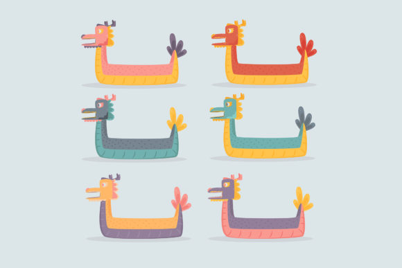 Download Free Dragon Boats Pack Illustration Graphic By Aprlmp276 Creative for Cricut Explore, Silhouette and other cutting machines.
