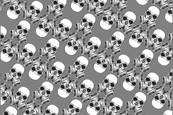 Pattern Seamless Skull Graphic Illustrations By Epic.Graphic