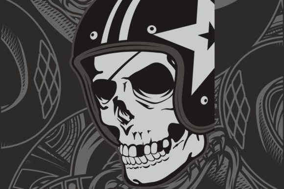 Skull with Helmet Graphic Illustrations By Epic.Graphic