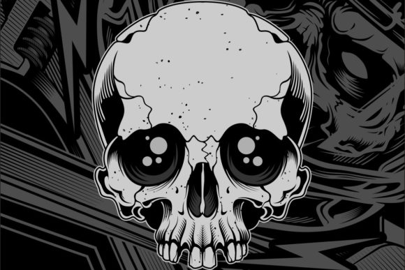 Download Free Skull Hand Drawing Graphic By Epic Graphic Creative Fabrica for Cricut Explore, Silhouette and other cutting machines.
