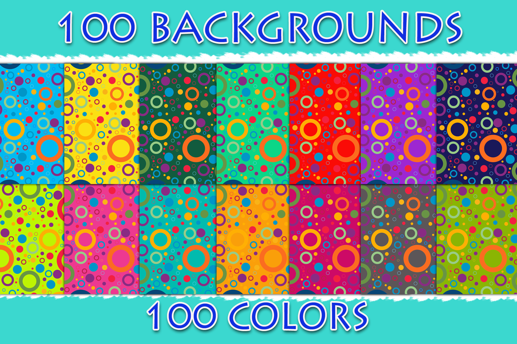 Download Free 100 Colorful Circles Digital Paper Graphic By Sweetdesign for Cricut Explore, Silhouette and other cutting machines.