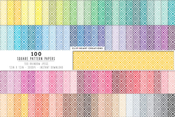 100 Diamond Pattern Papers Graphic Backgrounds By clipheartcreations