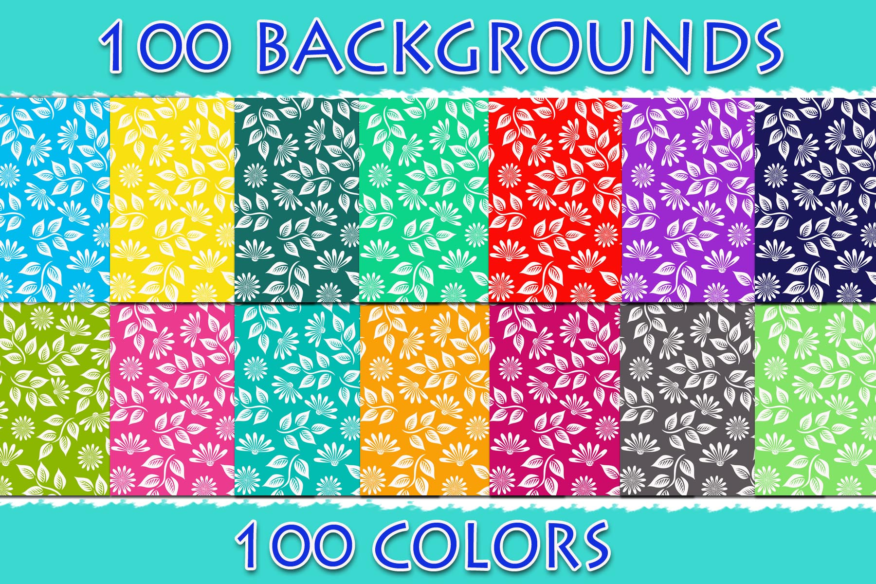 Download Free 100 Floral Digital Paper Graphic By Sweetdesign Creative Fabrica for Cricut Explore, Silhouette and other cutting machines.
