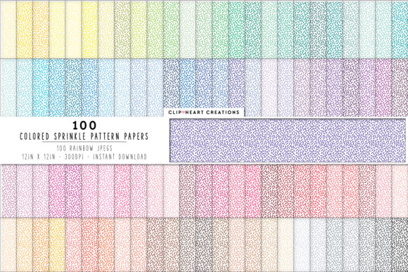 Download Free 100 Sprinkles Pattern Digital Paper Graphic By for Cricut Explore, Silhouette and other cutting machines.
